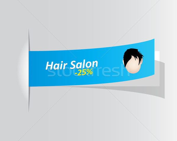 special hair salon promotional label Stock photo © place4design