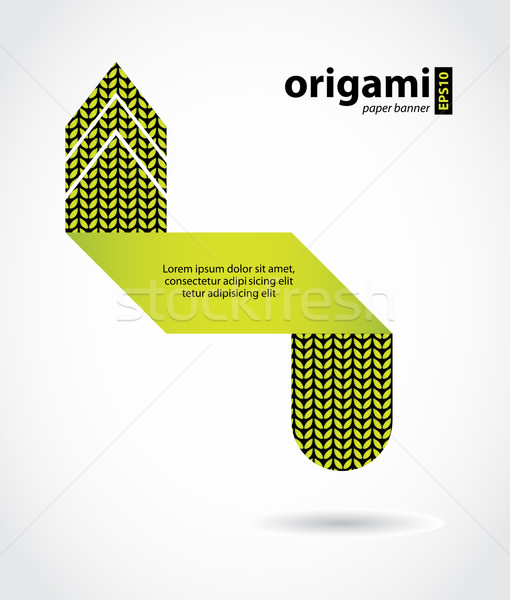 Abstract origami fumetto maglia design carta Foto d'archivio © place4design