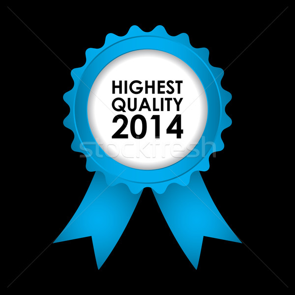 blue badge - highest quality 2014 Stock photo © place4design
