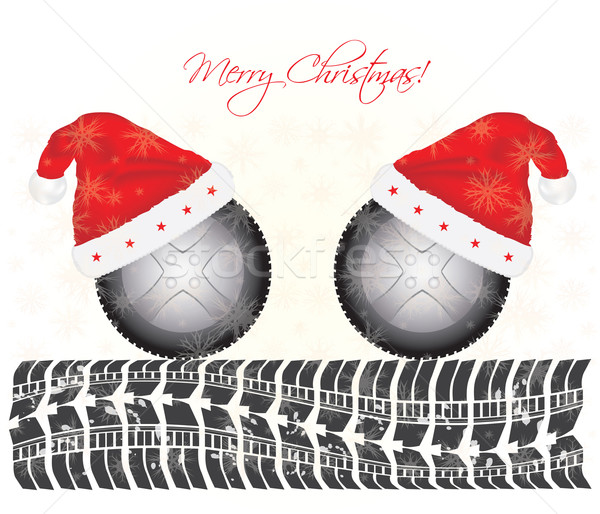 special Christmas background with tire design Stock photo © place4design