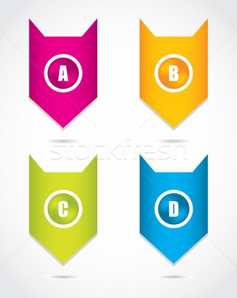 бумаги прогресс Этикетки продукт выбора дизайна Сток-фото © place4design