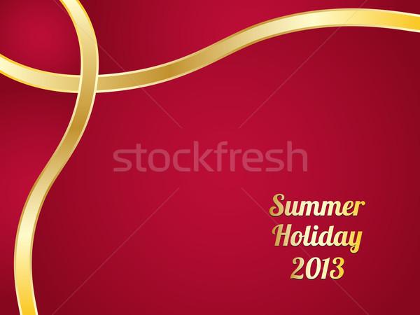 Nyár különleges terv weboldal absztrakt naplemente Stock fotó © place4design