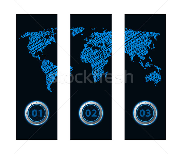 Bandeira especial mapa projeto internet globo Foto stock © place4design