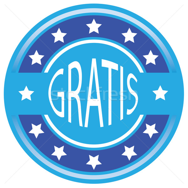 Blauw vector label gratis vak reclame Stockfoto © place4design