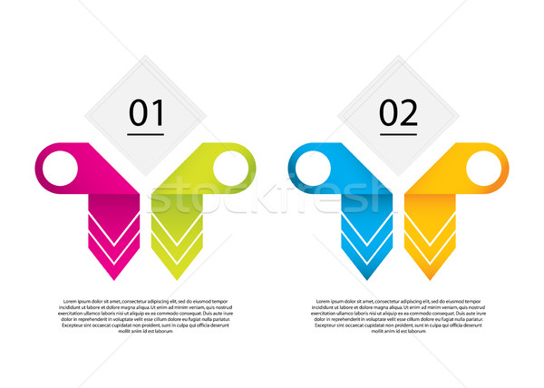 Vector infographic template with special origami elements.Busine Stock photo © place4design