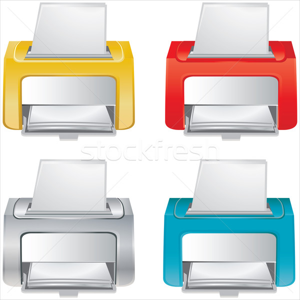 Small office device - vector - icon Stock photo © place4design