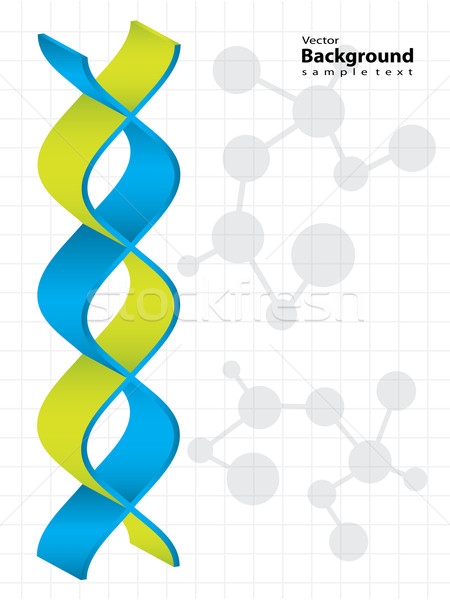 DNA strand with special design - medical background Stock photo © place4design