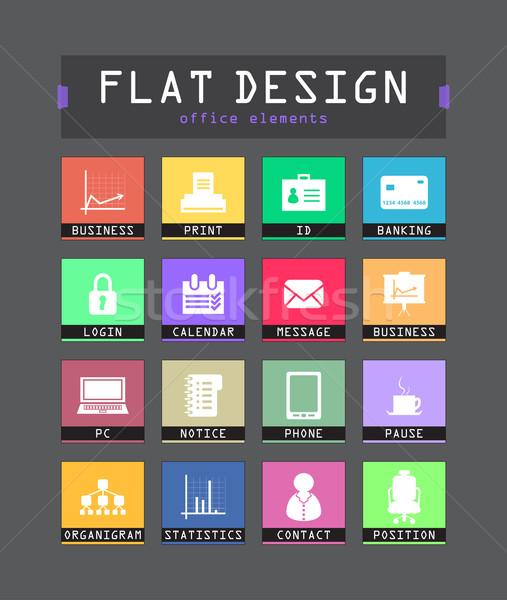 Spéciale ui icônes web mobiles applications Photo stock © place4design