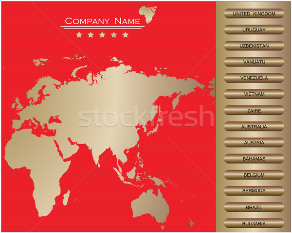 red-Vector web site design template Stock photo © place4design