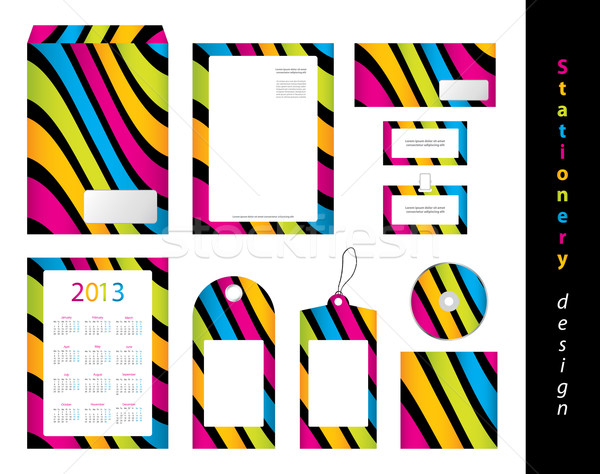Stationery design set Stock photo © place4design