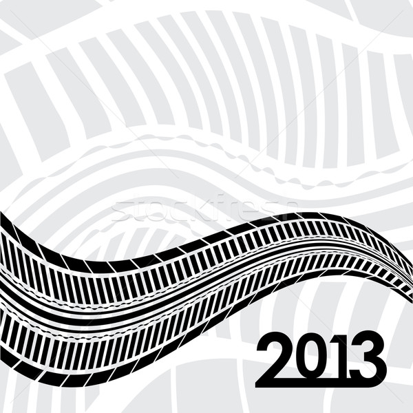special tire track on white background Stock photo © place4design