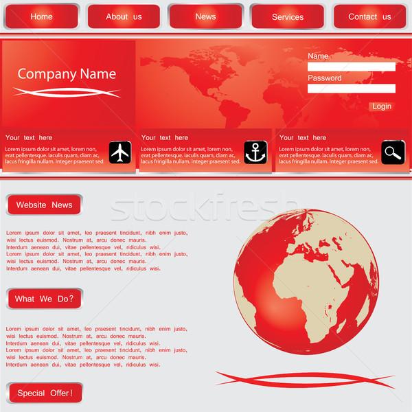 Website design template, vector. Stock photo © place4design