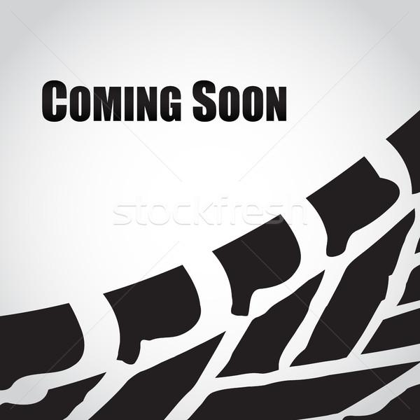 Imprimir estrada abstrato projeto fundo preto Foto stock © place4design