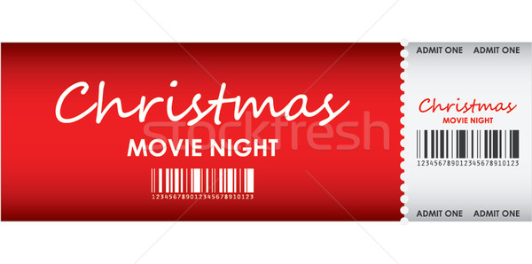 special red ticket for Christmas movie night Stock photo © place4design