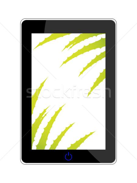 smart phone - realistic vector illustration with aloe vera desig Stock photo © place4design