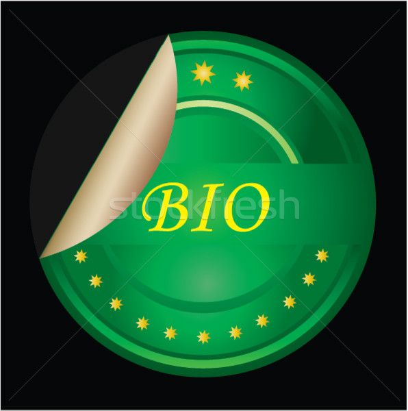 Bio food or product label - green VECTOR Stock photo © place4design