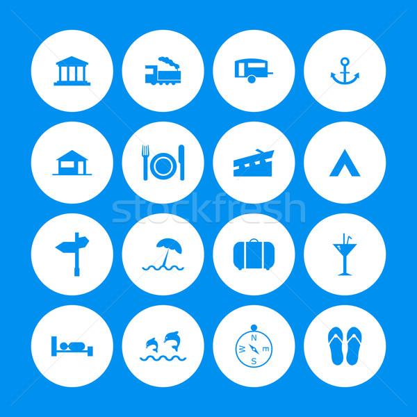 Viajar ícones especial projeto negócio Foto stock © place4design