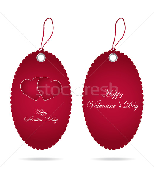 special price tags with Valentine's Day design Stock photo © place4design