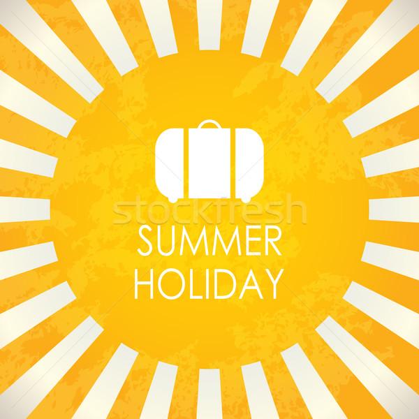 Nyári szabadság absztrakt vektor terv háttér nyár Stock fotó © place4design