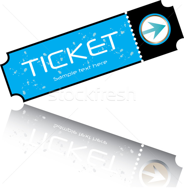 blue ticket vector Stock photo © place4design