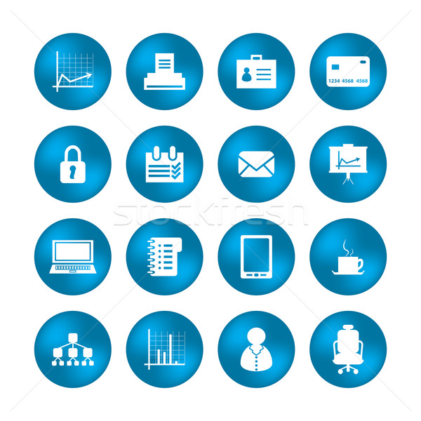 various office icons with special design Stock photo © place4design