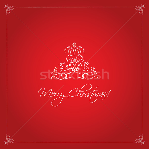 красный Рождества вектора аннотация свет фон Сток-фото © place4design