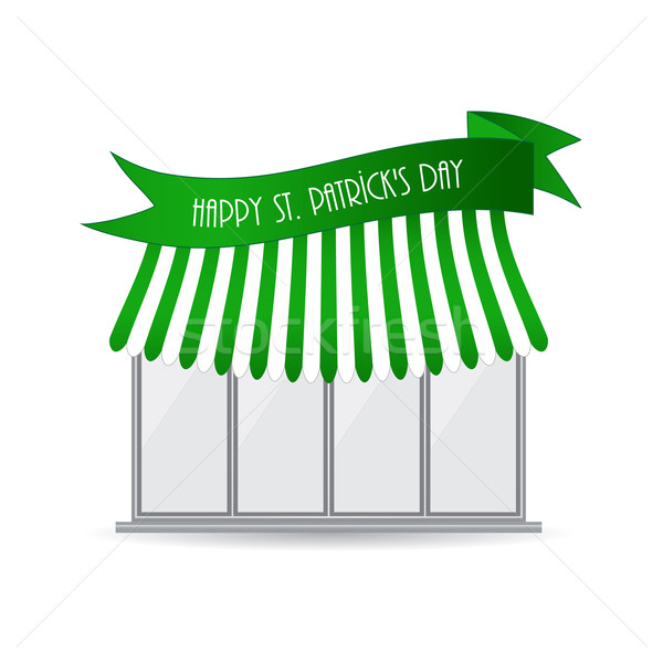 Heureux jour de St Patrick magasin icône affaires printemps Photo stock © place4design