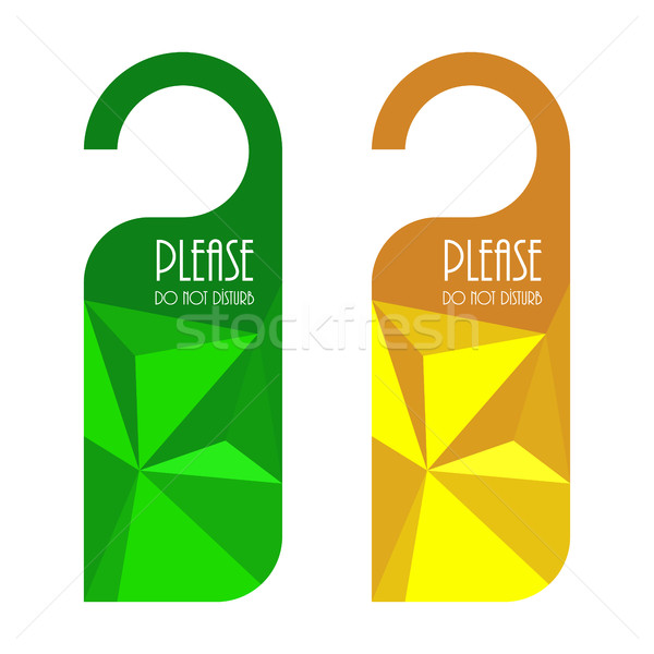 door hanger, do not disturb sign with triangle design Stock photo © place4design