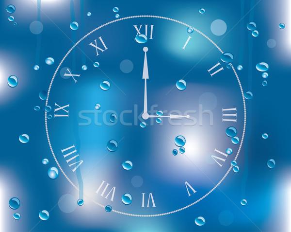 Vettore gocce di pioggia vetro cielo acqua natura Foto d'archivio © place4design