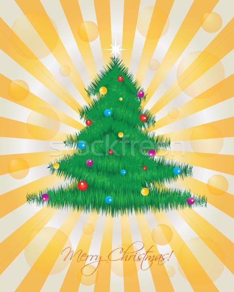Arte verde noite cartaz amarelo Foto stock © place4design