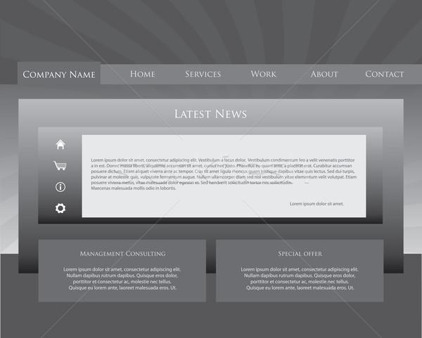 special website design template Stock photo © place4design