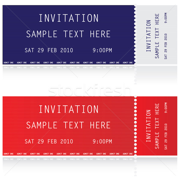 Illustration of two tickets  Stock photo © place4design