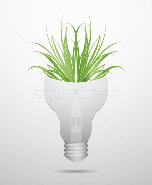 Foto stock: Especial · ecología · bombilla · diseno · flor · tecnología