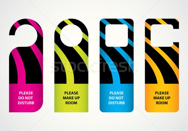 Hotel nem ajtó vállfa különleges terv Stock fotó © place4design