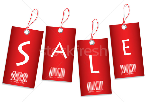 Red price tags Stock photo © place4design