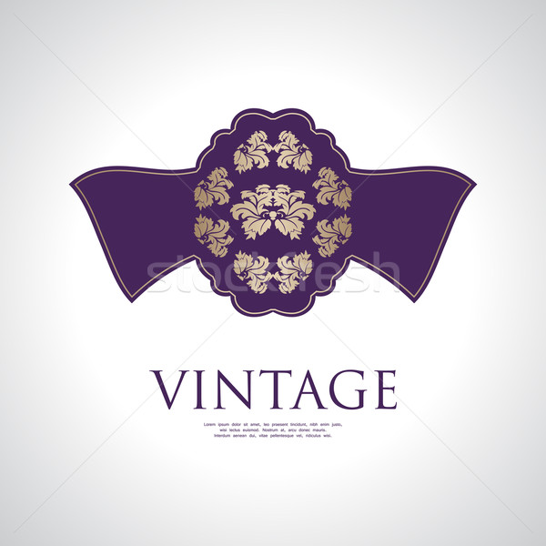 vintage label with special design Stock photo © place4design