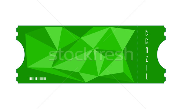vector special ticket with triangle design, Eps10 Stock photo © place4design