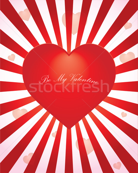 valentine background with heart Stock photo © place4design