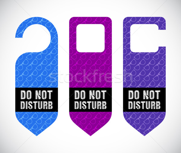 hotel do not disturb door hanger with hipster design Stock photo © place4design