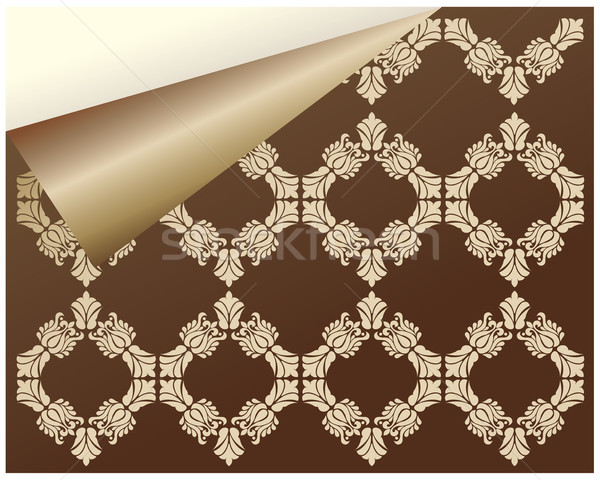 special seamless damask wallpaper for your website Stock photo © place4design