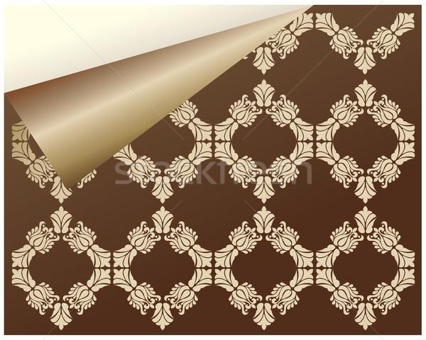 Specjalny bezszwowy adamaszek tapety stronie działalności Zdjęcia stock © place4design