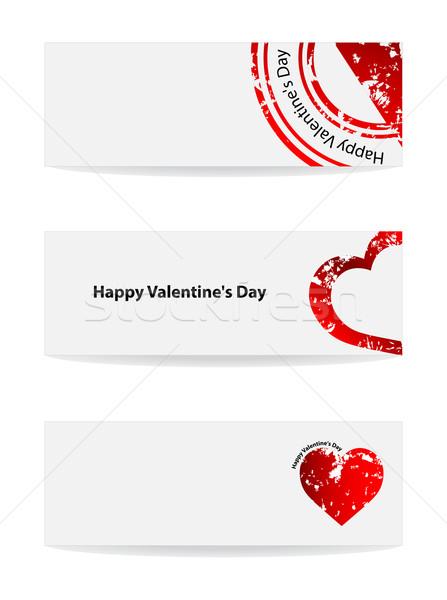 Valentin nap vektor szalag különleges terv esküvő Stock fotó © place4design