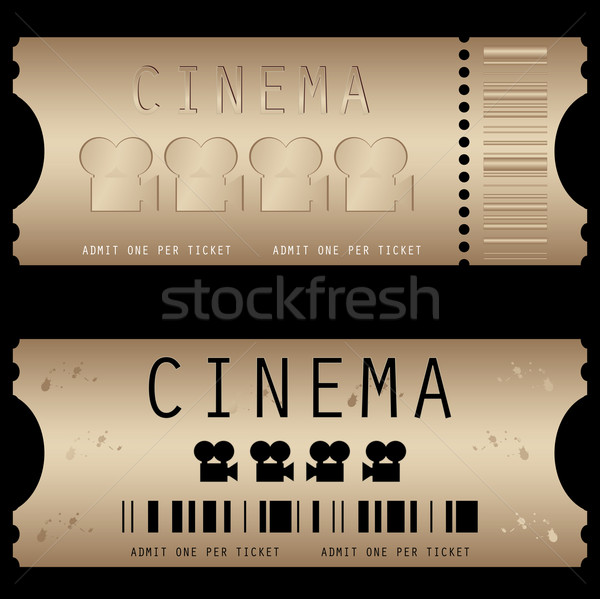 Movie ticket in different styles - vector  Stock photo © place4design