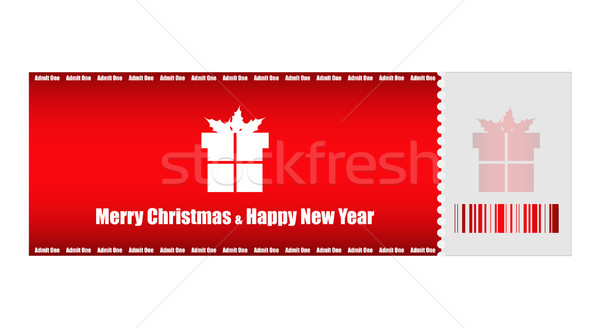 admit one Christmas ticket Stock photo © place4design