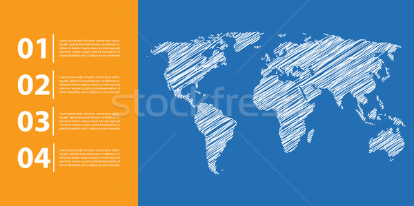 business background with world map, business infographics Stock photo © place4design