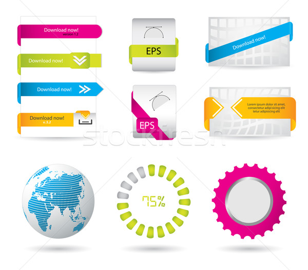 special download buttons and banners for your website Stock photo © place4design