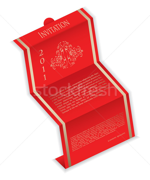 Stock photo: special invitation with vintage design