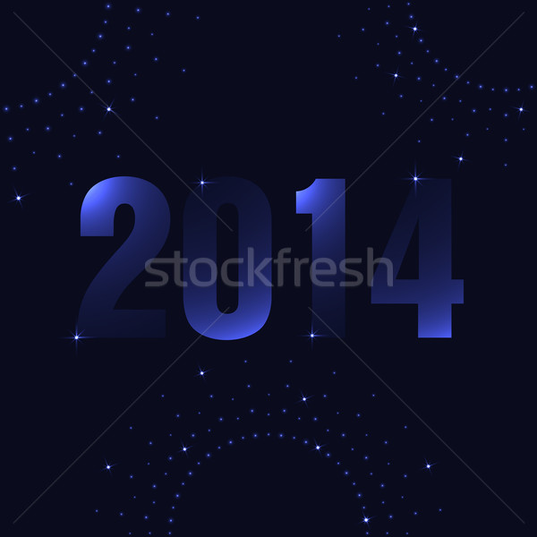 Happy New Year background with plasma design Stock photo © place4design