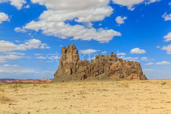 Kilise kaya Arizona gökyüzü güneş doğa Stok fotoğraf © pngstudio