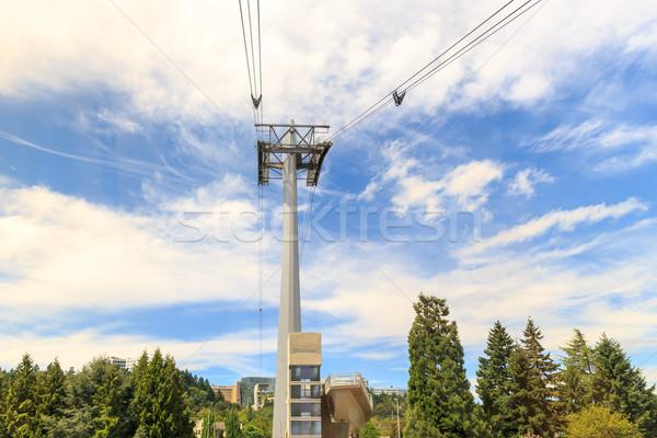 Foto stock: Bonde · torre · um · torres